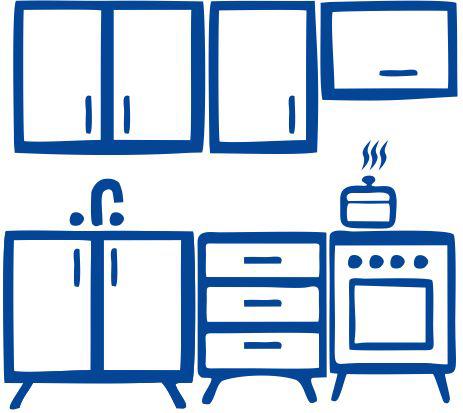 Крашеный MDF (Кухня)